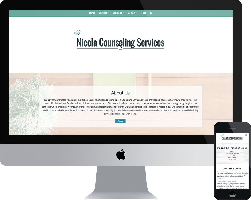 Nicola Counseling Services, LLC website